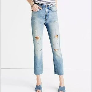 Madewell Perfect Vintage Jean High Rise Distressed